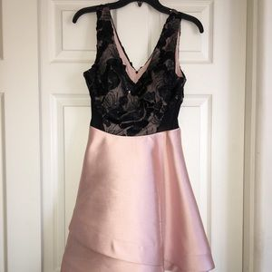 Blush pink & black Homecoming/ Prom Dress
